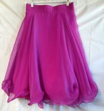 Very Pretty Fuchsia Pink Custom Made Ballroom Dance Skirt w/ Multiple Layers
