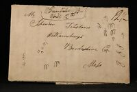 New York: West Greenfield (#1) 1832 Stampless Cover, Ms, DPO Saratoga Co