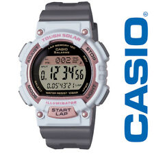 NEW Casio Women's Solar Runner Digital Quartz Watch STLS300H-4ACF Grey White