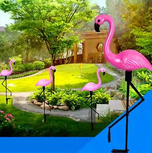 garden outdoor solar light decoration pink flamingo yard lawn path waterproof