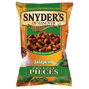 Snyder's Jalapeno Pretzel Pieces 125g - 10 pack