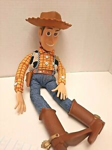Vintage 1995 Disney Pixar Toy Story Pull String Talking Woody Thinkway Original