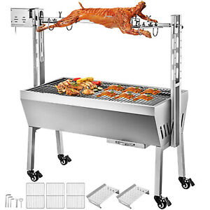 Spit Roaster Rotisserie Pig Lamb Roast BBQ Portable Picnic Outdoor Cooker Grill1