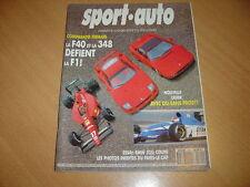 Sport Auto N°361 Ferrari F40.Mazda RX7.Audi 100 S4.