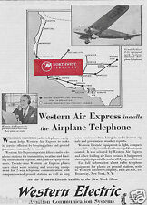 WESTERN AIR EXPRESS FOKKER F-32 1930 WESTERN ELECTRIC INSTALLS TELEPHONE AD