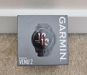 Garmin Venu 2 GPS Smartwatch - Black and Slate Grey