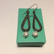 Silpada 925  Sterling Silver  Perfect Pearl Dangle Drop Earrings (2650) W1388