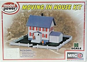 MODEL POWER 1553 N SCALE Building MOVING IN HOUSE KIT New