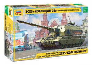 """Zvezda 3677 Russian 152 MM Self-Propelled Howitzer 2S35 """"KOALITSIYA-SV"""" 1/35"""