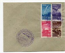 Romania 1948 Aviation+Marine,Airplanes,Navy,Ships,very rare 2X covers FDC's