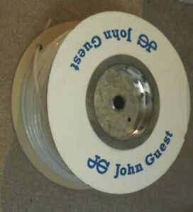 """JOHN GUEST LLDPE WHITE ? CLEAR ? ¼"""" approx 6mm WATER PIPE AIR TUBE PER METER"""