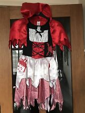 LITTLE DEAD RIDING HOOD GIRLS HALLOWEEN DRESSING UP COSTUME AGE 11-12 YEARS