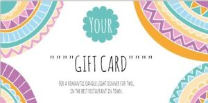 Personalised Custom Gift Card Voucher Printed 21 x 10 cm, Double Sided