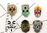 Simpson Skull Bart Halloween Mask Acrylic Badges Pin Brooches