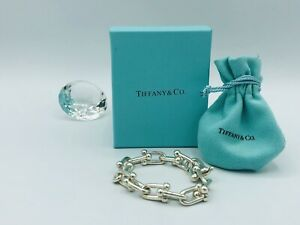 Tiffany & Co. Sterling Silver HardWear Link Chain Large 7' Inch Bracelet Italy