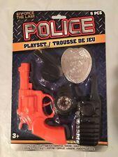 Police Officer Toy Gun Playset Badge Watch Radio