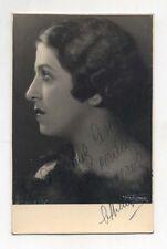 Fotografia autografo ATTILIA ARCHI Cantante soprano anni 30 opera lirica photo