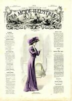 MODE ILLUSTREE SEWING PATTERN April 11,1909 - Dresses and blouses