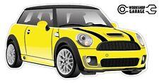 Mini Cooper New Collectible Sticker - Yellow