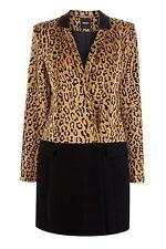 Oasis Leopard Patched Car Coat (Multi) L