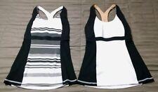 Lot Of 2 Ladies Lululemon Workout Yoga Bra Tops Black & White Size XS