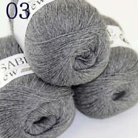 AIP Super Soft Pure Sable Cashmere Wrap Shawls Hand Knit Wool Crochet 50grx3 03