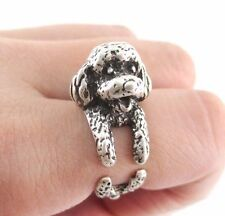 Poodle Dog Rings - Silver - Adjustable (R14)