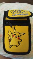 Vintage Gameboy  Pokemon Soft Carrying Case - Yellow Pikachu Authentic