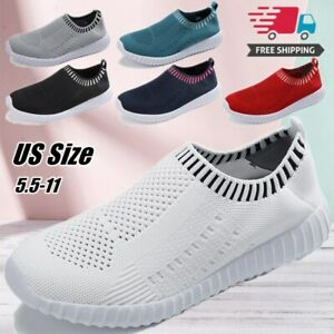 Women Casual Shoes Sneakers Flat Loafers Walking Breathable Shoe Comfort Slip On