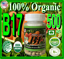100% Organic Vitamin B17 500+mg Per Vegetarian Capsule Apricot Kernel Seed Extra