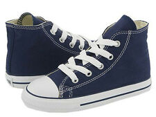 NEW INFANT TODDLER CONVERSE CHUCK TAYLOR ALL STAR HI NAVY 7J233 ORIGINAL SO CUTE