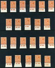 1924 KGV Block Cypher 2d Control Singles S.G. 421