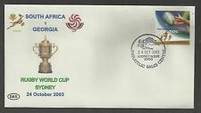 AUSTRALIA 2003 RUGBY WORLD CUP Souvenir Cover SOUTH AFRICA v GEORGIA 24/10/2003