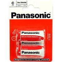 Panasonic C Size Battery Non Rechargeable Batteries x 2