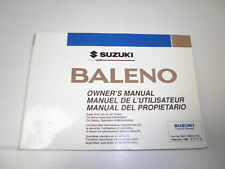 Suzuki Baleno - Glove Box Handbook. Genuine Factory Part.