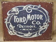 Ford Historic Logo Motors Detroit Michigan Tin Metal Sign  Car NEW