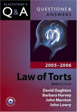 Questions and Answers: Law of Torts 2005-2006 (Blackstone's Law Questions and ,