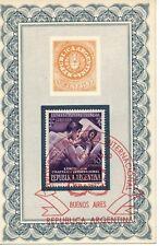 ARGENTINIEN 12.11.1950 Internationale Briefmarkenausstellung, Buenos Aires SST