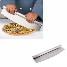 Stainless Steel Pizza Rocker Cutter Knife Cooking Kitchen Serving Slicer Tool