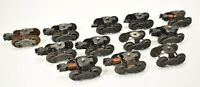 Lot 12 Vintage LIONEL Trucks Train O Gauge Metal 4 WHEELS  Knuckle Couplers