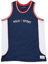 Vintage Polo Sport Basketball Jerseys Size L , Big Logo ,Hip Hop 1990s , NBA1