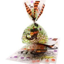 """20 """"SPOOKY BOOTS"""" CELLOPHANE Cello Loot Treat Bags Halloween Party Supplies 5X11"""