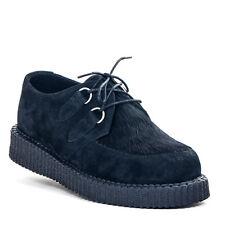 Boots & Braces Wildleder-Creeper Black New Fur mit Kunstfelleinsatz
