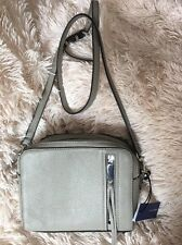 Rebecca Minkoff India Crossbody Bag SOFT Gray Leather NEW $295