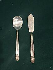 Butter Knife & Sugar Spoon:  HOLMES & EDWARD'S Silverplate IS Danish Princes