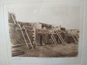 Edward S Curtis Original Photogravure, Southwest Native Americans, Vellum Paper,