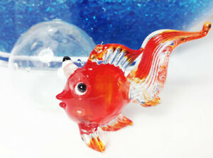 Goldfish Floating Blown Glass Bubble Micro-landscape Aquarium Ornament Decoratio