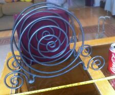 Metal Unusual Spiral Circle Well Made Design Magazine Rack Pretty Ornate