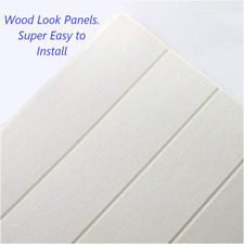 3D Wood Foam Wallpaper 50 sqft Peel and Stick Self Adhesive Panel Wall Home Tile