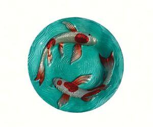 BIRD BATHS Koi Pond Glass Bird Bath  SE5026